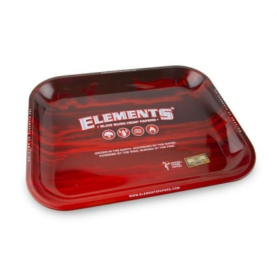ELEMENTS RED Large Metal Rolling Tray - 340mm x 280mm