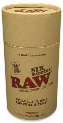 RAW Six Shooter King Size Cone Filler - Fills up to 6 cones at once!