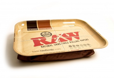 RAW XXL Metal Rolling Tray with Bean Bag