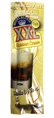 2-pack RUSSIAN CREAM XXL Hemp Wraps - Tobacco Free  (Rolls up to 4!)