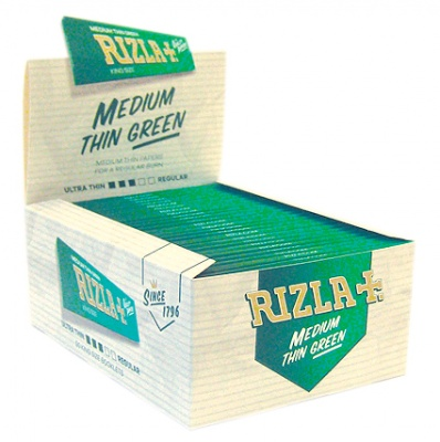 50 Rizla Green King Size Rolling Papers Full Box