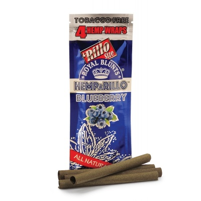 4-pack BLUEBERRY Hemp Wraps - Tobacco Free
