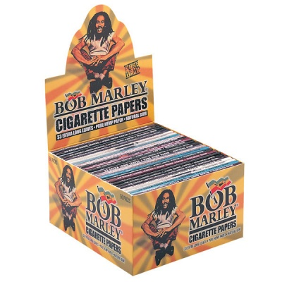 50 Bob Marley King Size Rolling Papers Full Box