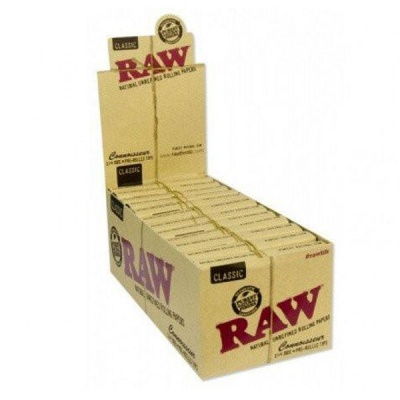 RAW Classic Connoisseur 1¼ Size Rolling Papers & Pre-Rolled Tips