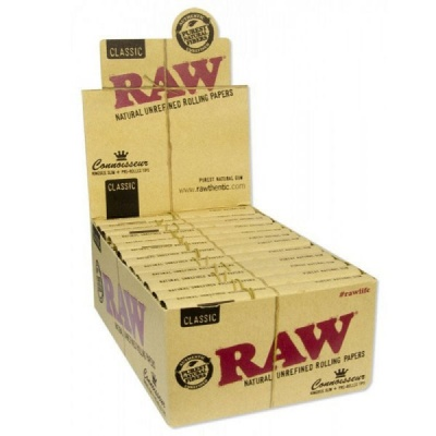 24 RAW Connoisseur King Size Slim & Pre-Rolled Tips Full Box