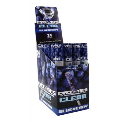 24 Cyclone Clear Blueberry Flavoured Pre Rolled Cones