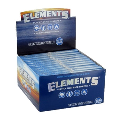 24 Elements Connoisseur King Size Slim Rolling Papers & Tips