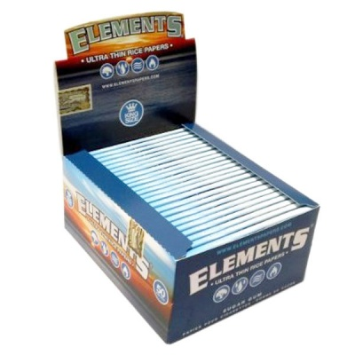 50 Elements King Size Slim Rolling Papers Full Box