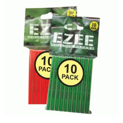 EZEE Red Standard Rolling Papers Packs of 10