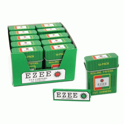 EZEE Green Regular Rolling Papers 10 Pack Tins