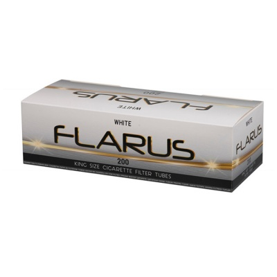 1000 Flarus White Empty King Size Cigarette Filter Tubes 5 x 200 Tubes