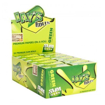 24 Jays Green Slim 5m Unflavoured Rolls Full Box