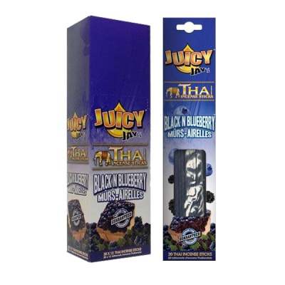 Juicy Jays Black n Blueberry Thai Incense Sticks 12 x 20 Full Box