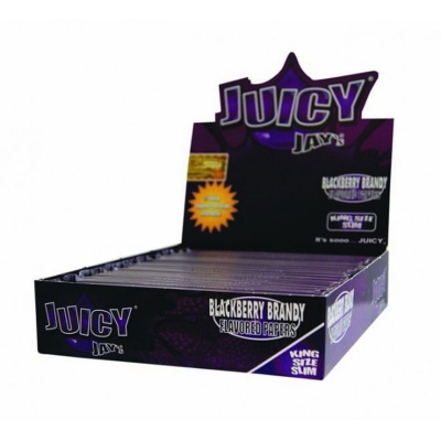 24 Juicy Jays Grape King Size Slim Flavoured Rolling Papers Full Box