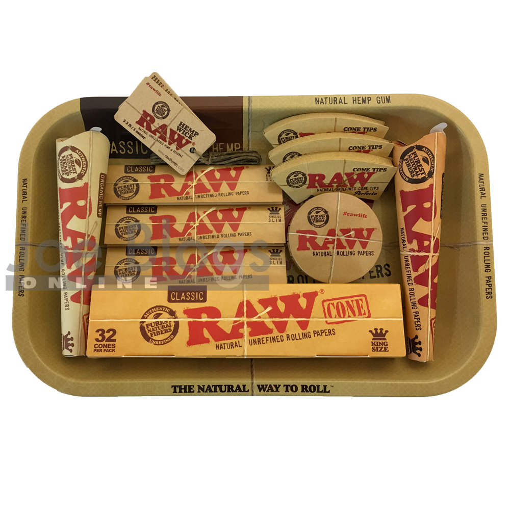 Raw Small Cone Lovers Rolling Tray Gift Set Choice Of Tray