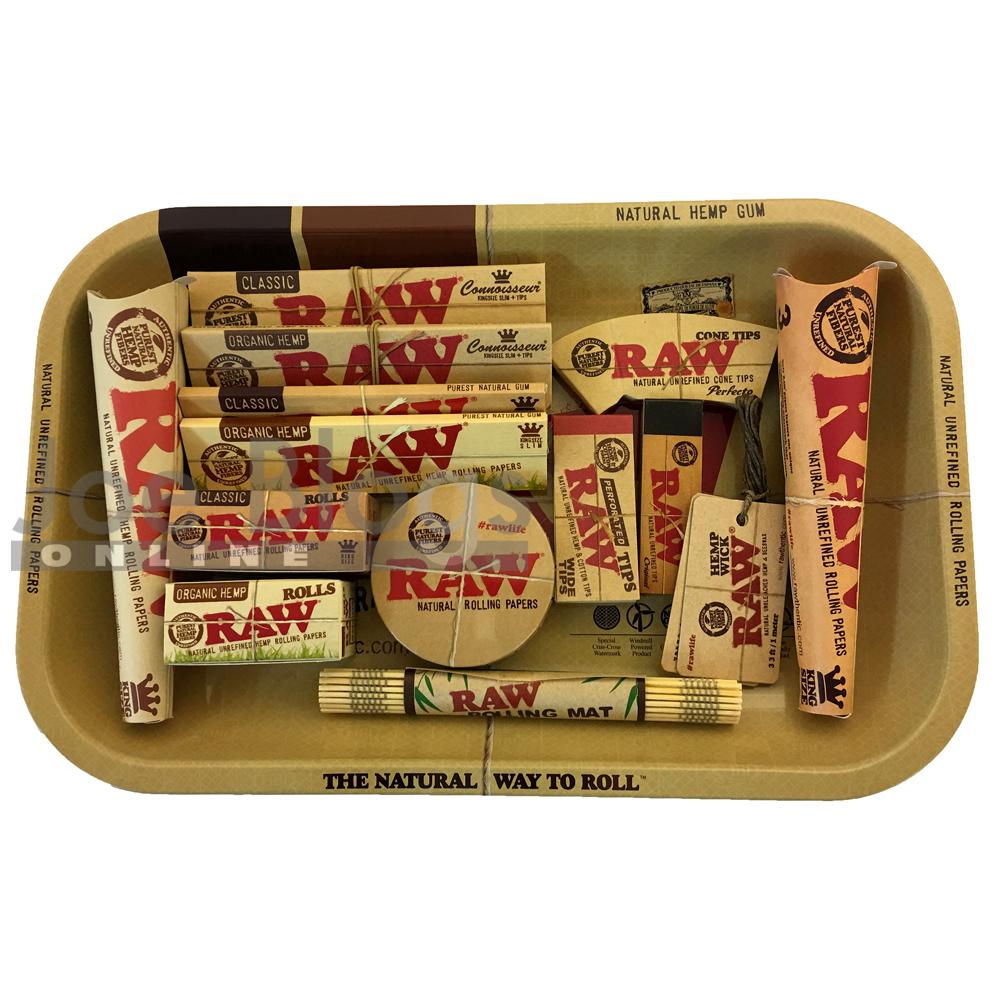 Raw Small Classic Amp Organic Rolling Tray Gift Set Choice