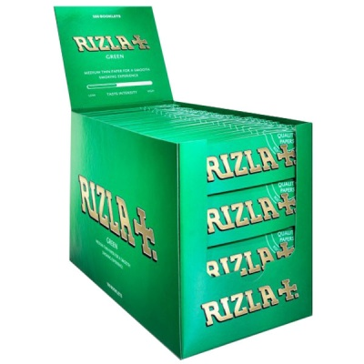 100 Rizla Green Regular Rolling Papers Full Box