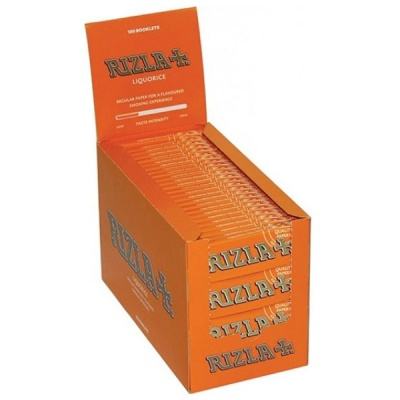 100 Rizla Liquorice Regular Rolling Papers Full Box