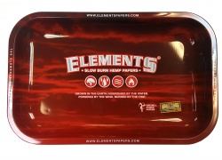 ELEMENTS RED Small Metal Rolling Tray - 275mm x 175mm