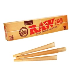 RAW 32-pack Pre Rolled King Size Cones