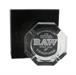 RAW Crystal Ashtray in Gift Box - Heavy, Lead-free