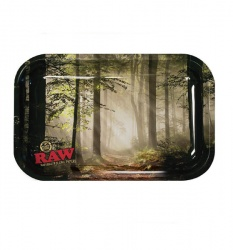 RAW - Smokey Forest - Small Metal Rolling Tray