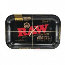 RAW - BLACK - Small Metal Rolling Tray