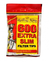 Rolling King EXTRA SLIM Filter Tips - 600 tips per bag