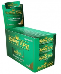 Rolling King Green Regular Cut Corners Rolling Papers
