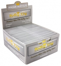 Rolling King Silver Kingsize Slim Rolling Papers