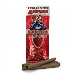 4-pack STRAWBERRY Hemp Wraps - Tobacco Free