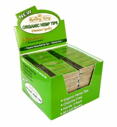 Rolling King Organic Hemp Rolling Tips - Pack of 3