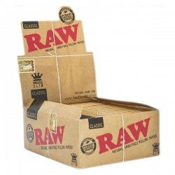 50 RAW Classic King Size Slim Rolling Papers Full Box