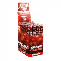 24 Cyclone Clear Cherry Flavoured Pre Rolled Cones Full Box
