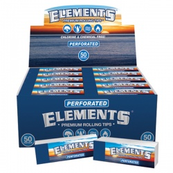 50 Elements Regular Perforated Rolling Tips Full Box