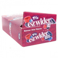 24 EZ-Wider Wild Berry Flavoured 1½ Size Rolling Papers Full Box