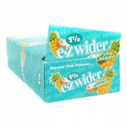 24 EZ-Wider Pina Colada Flavoured 1½ Size Rolling Papers Full Box