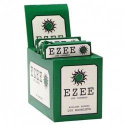 100 EZEE Green Standard Rolling Papers Box of 100