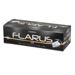 1000 Flarus Carbon Empty King Size Cigarette Filter Tubes 5 x 200 Tubes