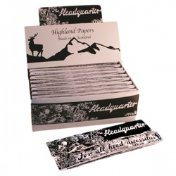 24 Highland Headquarter Extra Long Rolling Papers & Tips Full Box