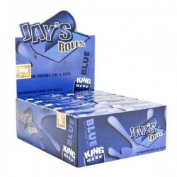 24 Jays Blue King Size 5m Unflavoured Rolls Full Box