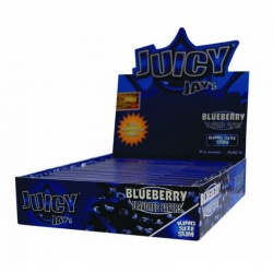 24 Juicy Jays Blueberry King Size Slim Flavoured Rolling Papers Full Box