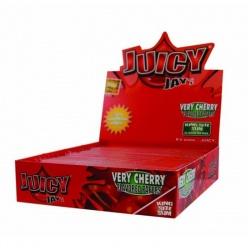 24 Juicy Jays Very Cherry King Size Slim Flavoured Rolling Papers Full Box