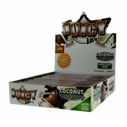 24 Juicy Jays Coconut King Size Slim Flavoured Rolling Papers Full Box