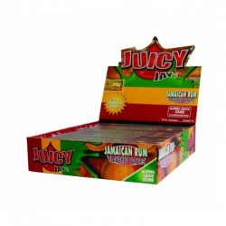 24 Juicy Jays Jamaican Rum King Size Slim Flavoured Rolling Papers Full Box