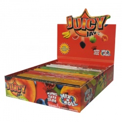 24 Juicy Jays Mix N Roll King Size Slim Flavoured Rolling Papers Full Box