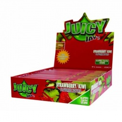 24 Juicy Jays Strawberry & Kiwi King Size Slim Flavoured Rolling Papers Full Box
