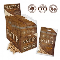 20 Natur Slim Organic Biodegradable Filter Tips 200 per Pack Full Box