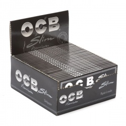 50 OCB Black Premium King Size Slim Rolling Papers Full Box