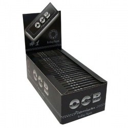 50 OCB Black Premium Regular Rolling Papers Full Box